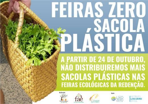 Retirada das sacolas plásticas da FAE e FEBF